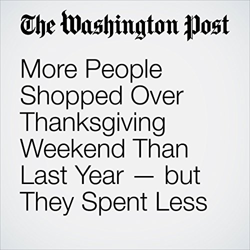 More People Shopped Over Thanksgiving Weekend Than Last Year — but They Spent Less audiobook cover art