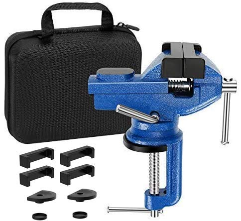 Vise Universal Rotate 360° Work Clamp-on Vise Table Vise, 3'
