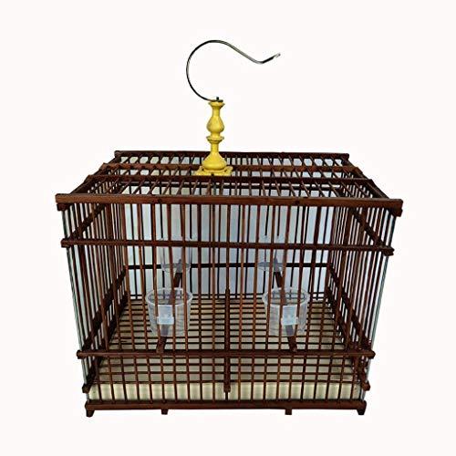 NYKK Small Bird Cage/Cottages Bird House Zizhu Bird Cage Rectangular Bird Villa Stainless Steel Hook Outdoor Ornamental Bird Cage bird cage/Nest Box Birdhouse Birds