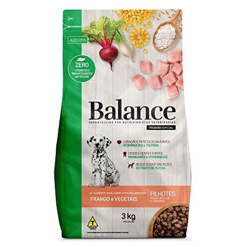 Ração Premium Balance Filhote Porte Médio/Grande 3 kg   Sabor Frango