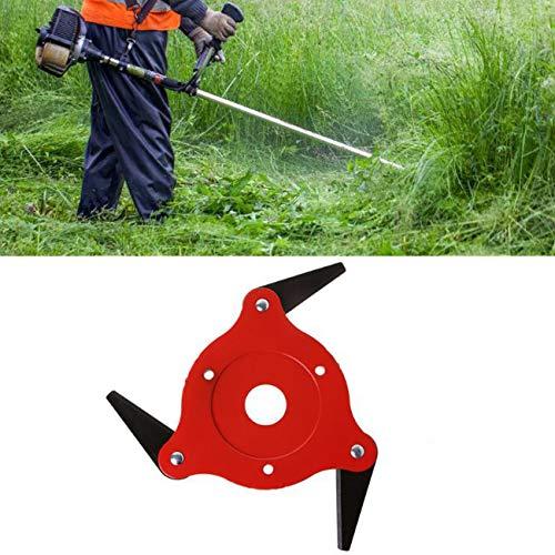 3 lames tête de coupe herbe coupe-herbe brosse 65Mn brosse à mauvaises herbes tête de coupe accessoires d'outils de jardin électrique pour tondeuse à gazon