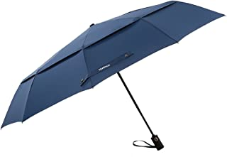 TOMSHOO Golf Umbrella 50 Inch Large Windproof Auto Open Close Compact Double Canopy Folding Travel Portable Umbrella with 10 Ribs
