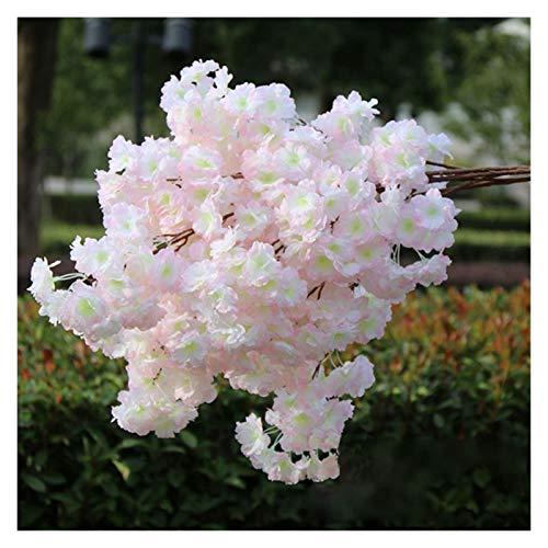WANGJBH Dried Flowers 100cm Plantes artificielles Plastique Fausses Fleurs de Soie Fleur de Cerisier Branche Fleurs de Soie pour la décoration de la Maison de Mariage Potpourri (Color : 5)