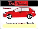 Türkantenschutz von Oraguard, Lackschutzfolie Oraguard 270 transparent, selbstklebend 4 Streifen von 1m x 10mm, Universell
