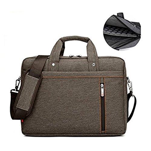 17.3' Waterproof Shockproof Roomy Stylish Laptop Shoulder Messenger Bag Handle Bag Tablet Briefcase For 17 Inch Laptop/Tablet/Macbook/Surface (Brown)
