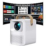 Proyector 4K, Proyector Portátil, 6000 Lúmenes, Android, Bluetooth, Nativo 1080p Full HD, Cine en...