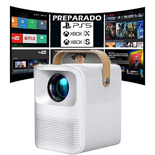 Proyector 4K, Proyector Portátil, 6000 Lúmenes, Android,...