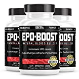 EPO-Boost Natural Blood Builder Sports Supplement. Oxygen & RBC Booster with Echinacea & Dandelion Root for Increased VO2 Max, Energy, Endurance ( (3-Pack)