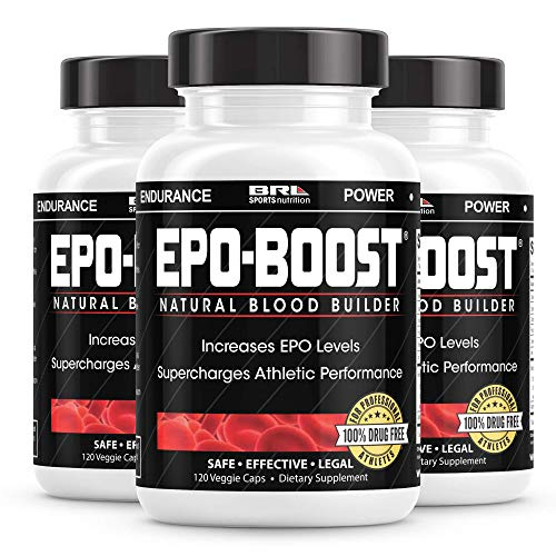 EPO-BOOST Natural Blood Builder Sports Supplement. RBC Booster with Echinacea & Dandelion Root for Increased VO2 Max, Energy, Endurance (3-Pack)…
