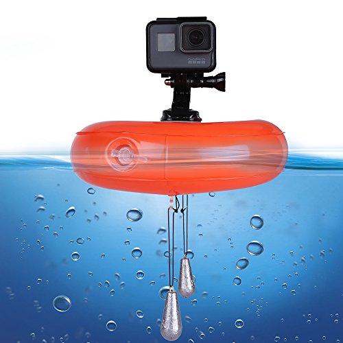 Telesin Schwimmscheibe, GoPro Kamera-Zubehör, Air Float Surfing Wasserdicht PVC aufblasbare Halterung für GoPro Hero 5/4/3 +/3 SJCAM SJ4000/5000/6000 Xiaomi Yi Action-Kamera