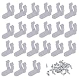 Yushulin 100 PCS 1/2 Inch LED Rope Light Clips Holder with 200 PCS screws Clear PVC Mounting Rope Light Mounting Clips