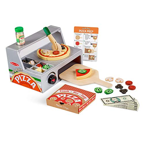Melissa & Doug Wooden Pizza Counter