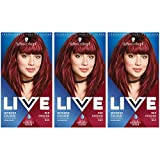 Schwarzkopf Live Intense <span class='highlight'>Colour</span> <span class='highlight'>Hair</span> Dye, Permanent <span class='highlight'>Colour</span> & Built-In Vibrancy Serum – 3x 043 Red Passion