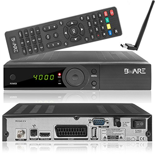 Beware RX 540 HD DVB-S2 Full HD digitaler Sat Receiver [HDMI, SCART, USB, S/PDIF, LNB IN, RS-232] schwarz
