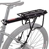 """Hsnmey - Portapacchi posteriore per bicicletta in lega di alluminio durevole, sgancio rapido, regolabile, portabagagli, accessori ciclismo, Cruz V2 Fresh Foam, 20.9""""x5.5"""""""