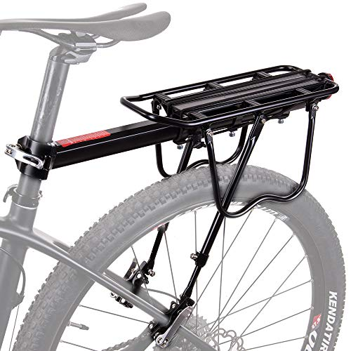 HSNMEY - Soporte para Bicicleta (aleación de Aluminio, Resistente, con liberación rápida, Ajustable, Accesorios para Ciclismo), Negro, 20.9'x5.5'