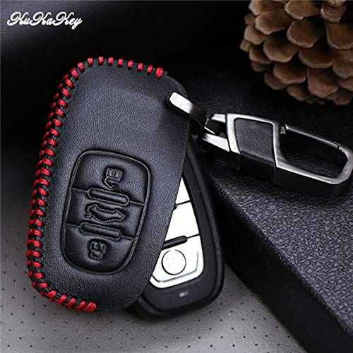ShineBear Red Line Car Key Case Cover For Audi A1 A2 A3 A4 A5 A6 A7 TT Q3 Q5 Q7 R8 S6 S7 S8 Key Shell Fob Best Birthday Present - (Color Name: 3Button Red)