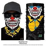HESHU 3D Joker Gesichtsschutz Motorrad Tube Neck Buffs Schädel Stirnband CAMO Gesichtsmaske Magic...