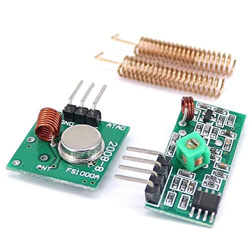 Smart Modul 10 Stück 433 MHz RF Wireless Empfänger Modul Transmitter Kit + 2 Stück RF Federantenne Open Smart für Arduino – Produkte, die mit offiziellen Arduino Boards funktionieren.