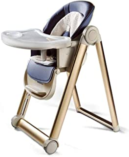 ZOUJUN High Chair - Adjustable Grow-Along Chair for Children With Tray and Safety Harness Dining Seat Folding Household Ch...