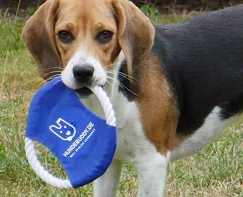 Frisbee für Hunde - Hundespielzeug aus Baumwollstrick - Wurfspielzeug