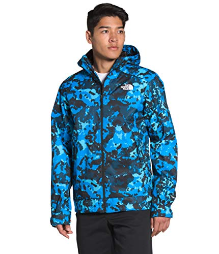 The North Face Millerton - Chaqueta para hombre con estampado de topo de color azul claro