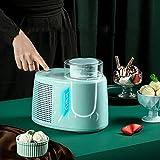 Máquina para hacer helados, sorbete de gelatina congelado yogur portátil, paleta de mezcla desmontable, fácil operación para uso en el hogar fangkai77