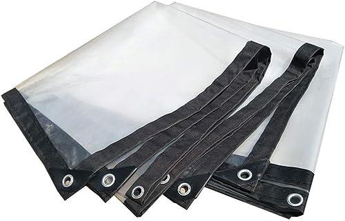 LXLA- Bache en plastique transparente avec oeillets, toile de bache isolante pour bache résistante à la pluie - 140g   m2 (taille   5m x 8m)