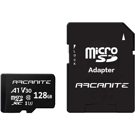 ARCANITE 128 Go Carte Mémoire microSDXC avec adaptateur SD - A1, UHS-I U3, V30, 4K, C10, microSD, Vitesse de lecture maximale de 90 Mo/s