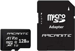 ARCANITE - Tarjeta de memoria microSDXC de 128 GB con adaptador SD, A1, UHS-I U3, V30, 4K, Clase 10, Micro SD, Velocidad de lectura hasta 90 MB/s