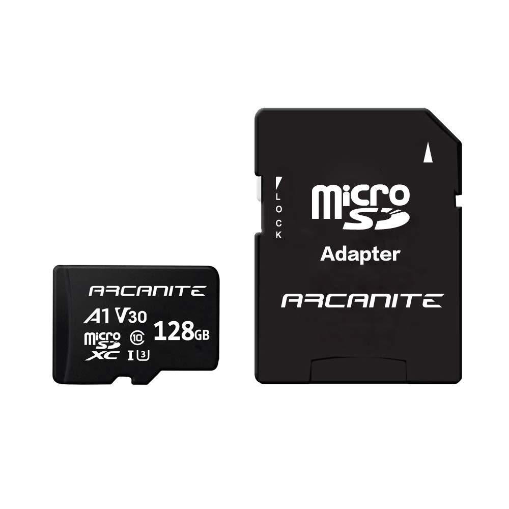 Arcanite 128 Go Carte Memoire Microsdxc Avec Adaptateur Sd A1 Uhs I U3 V30 4k C10 Microsd Vitesse De Lecture Maximale De 90 Mo S Amazon Fr Informatique