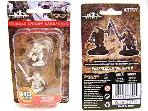 Dungeons & Dragons Pathfinder Deep Cuts Unpainted Miniatures: Female Dwarf Barbarian