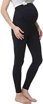 Momo Maternity Belly Support Back Active Workout Women's Leggings