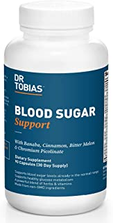 Dr. Tobias Blood Sugar Support Supplement, Herbal Blend, 90 Capsules