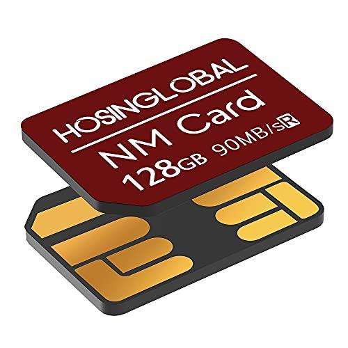 YAOMAISI NM-Speicherkarte 128GB 90MB/S Nano-Speicherkarte Nano-Karte Nur für Huawei P30/P30pro/P40-Serie/Mate20-Serie/Mate30-Serie/Mate40/Mate40pro Nano 128 GB-Karte geeignet(Rot)