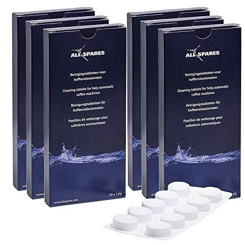 Geeignet für Bosch/Neff/Saeco/Siemens (60 St.) Reinigungstabletten von AllSpares 310575 / TCZ6001 / TZ60001 / CA6704