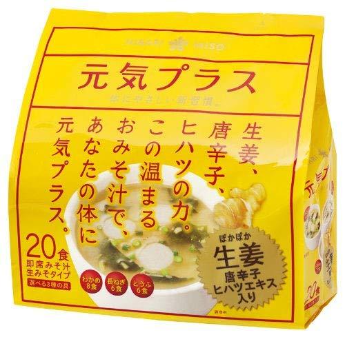 ひかり味噌 ひかり 元気プラス 即席生みそ汁 生姜入り 20食 袋382.4g [0111]