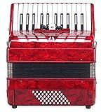 Classic Cantabile 31495 Secondo III - Acordeon de 48 bajos, color rojo