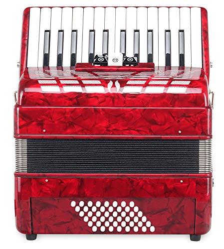 Classic Cantabile Accordéon 48 basses Secondo III rouge