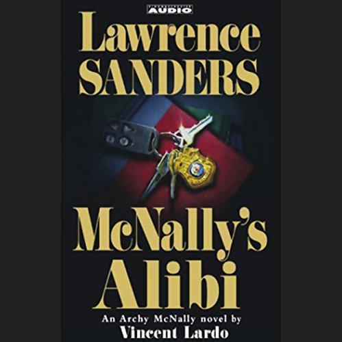 Lawrence Sanders' McNally's Alibi audiobook cover art
