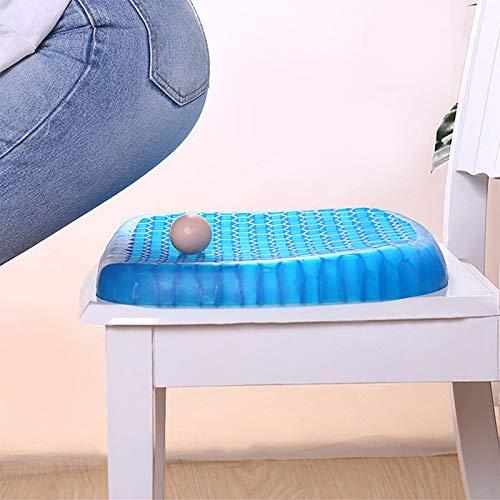 LINMAN Cojín de Asiento de Gel elástico TPE Silicona Refrigeración Mat Egg Support Non Slip Summer Ice Pad Silla Silla Cojín de Asiento de Oficina (tamaño : 42x35x4cm)