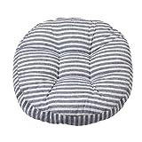 Homyl Runde Stuhlkissen Sitzkissen Tatami Kissen Für Haus Auto Büro, aus Baumwolle - Blaue...