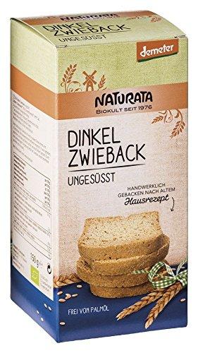 Naturata Bio Dinkel-Zwieback, ungesüßt (12 x 150 gr)