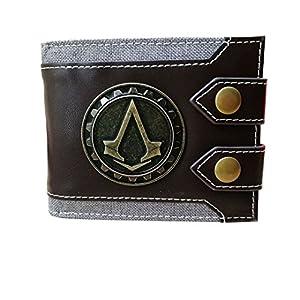 Men's Wallet Compatible for Assassin Creed Emblem Bifold Short Wallet Credit Card Holder