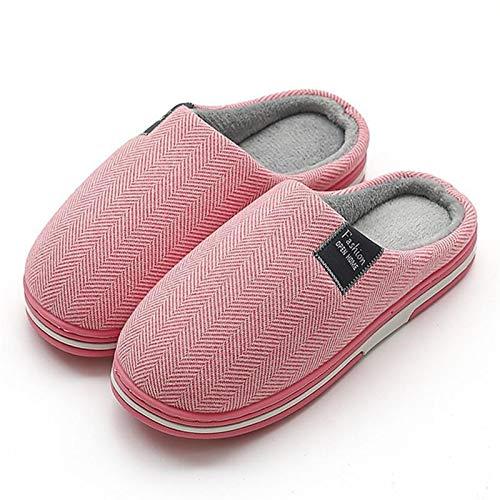 YYSH Zapatillas universales para Hombre y universales de Invierno Casa cálida de Invierno Inicio Soft Soft Lampe de algodón Zapatos de algodón 1211 (Color : Red, Shoe Size : 11)