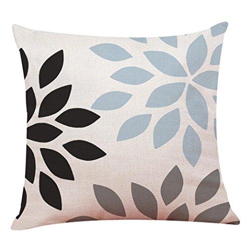 Kissenbezug 45 x 45 cm einfache geometrische Kissenbezüge Sofa Taille Bett Home Decor Pillow Cover LuckyGirls (G)