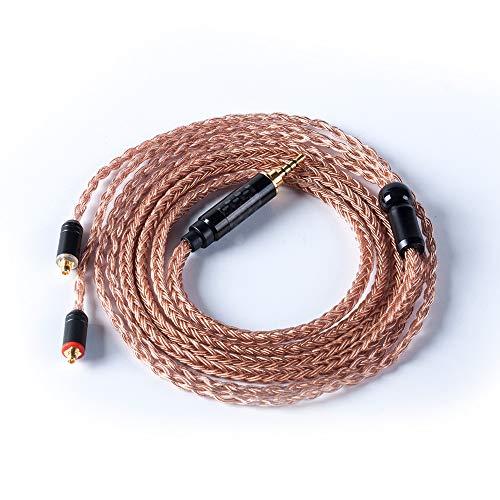 HiF4834リケーブルMMCX2.5mm7N単結晶銅16芯柔らかいケーブルステレオリケーブルアップグレードケーブル音質改善マニア向高級交換用ケーブル(LZA6/A5/A4/A3/LZ-Z04ALZ-Z05A)(YINYOOPROH5H3HQ5HQ6HQ8HQ10HQ12HX3HX4HX5)(HiF4834MMCX2.5)