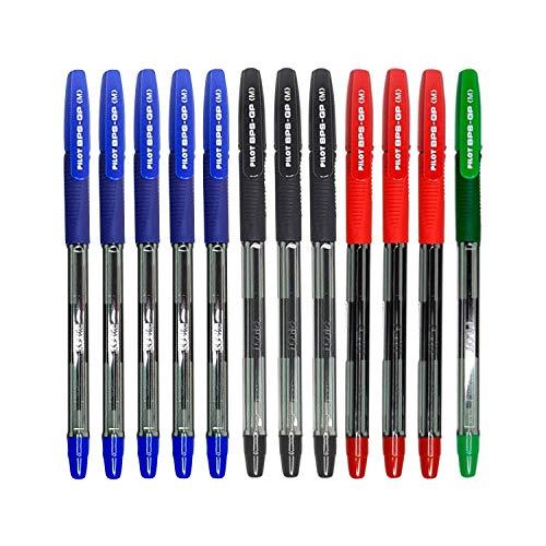 12 Pilot BPS GP Mixto 5 Azules, 3 Negros, 3 Rojos, 1 Verde De Punta 1mm