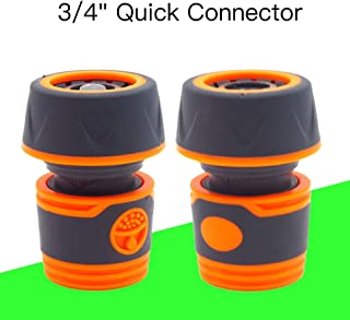 """HONGTAI Plastic 3/4"""" Garden Water Hose Soft Quick Connector with Waterstop Soft Coat on Whole Body for Good Feel Standard ..."""