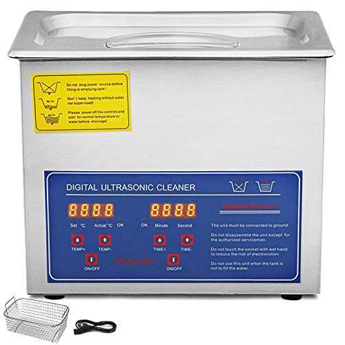 BananaB JPS-20A Ultraschallreiniger 3L reiniger ultraschallgerät Ultraschallreinigungsgerät Ultrasonic Cleaner mit Heizung Digital Timer for glasses Jewellery False Teeth Coins etc (JPS-20A)